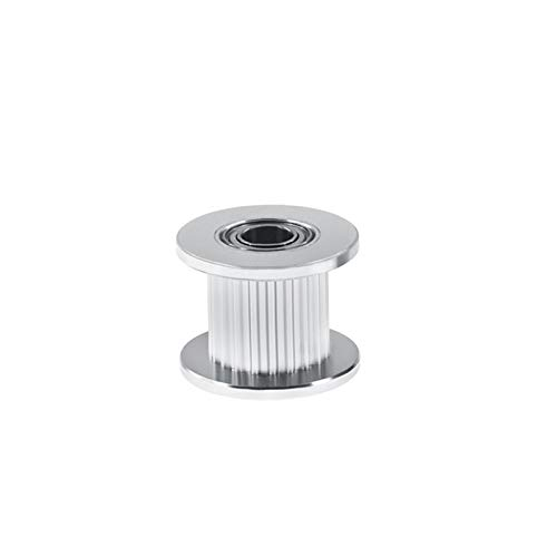 X-BAOFU, 50pcs GT2 Idler Timing Pulley 16/20 Tooth Wheel Bore 3/5mm Aluminium Gear Teeth Width 6/10mm 3D Printers Parts For Reprap Part (Size : 20T W6 B3 With T)