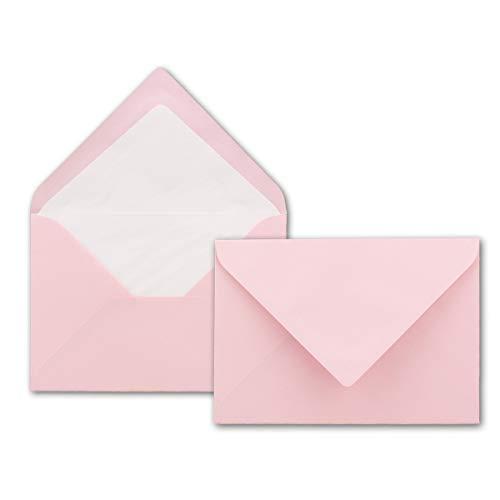 Enveloppes B6–Rose 125x 176mm avec doublure intérieure Lot de 50 Rosa