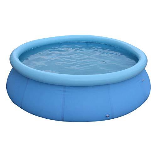 Piscina hinchable redonda para niños, salón familiar encima del suelo, centro de juego de agua para interiores y exteriores, Quick Easy Set, azul (360 cm)