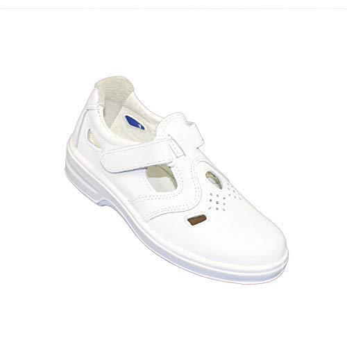 Aimont Poesia P1 Zapatos de Trabajo Zapatos de Seguridad Zapatos para Caminar Sandalia Blanca