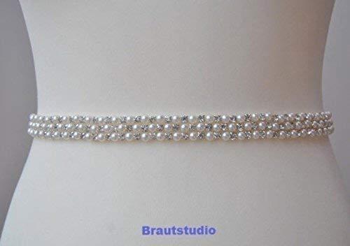 Brautgürtel Strass Perlen Damen Gürtel Abendkleidgürtel weiß, ivory, altrosa, schwarz
