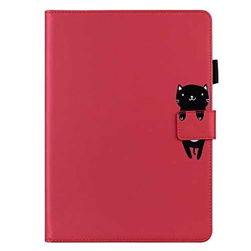 JIan Ying Funda para iPad Air/Air 2/iPad 9.7 (2017)/(2018) Delgado ligero protector cubierta gato