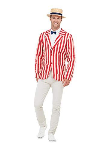 Smiffy's 50725L - Disfraz, ideal para hombre, estilo barbería, de los años 20, color rojo y blanco