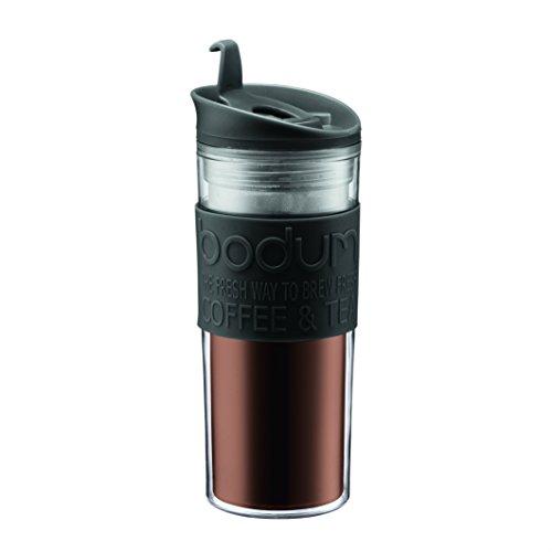 Bodum - 11101-01 - Mug de Voyage Plastique - 0,45 L - Noir