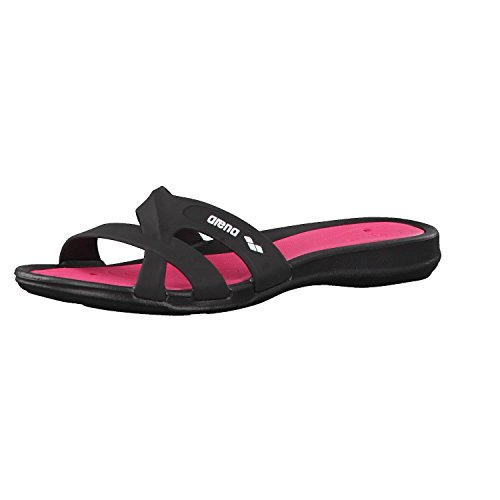Arena Athena Woman Hook, Zapatos de Playa y Piscina para Mujer, Multicolor (Black/Fuchsia 509), 40 EU