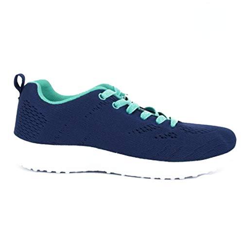 Doctor Cutilles 13652-431 sportschoenen voor dames, met veters, anatomisch, van nylonweefsel, blauw
