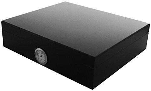 "GERMANUS Sigari Humidor ""Movel\"" Con Igrometro e Umidificatore e GERMANUS Manuale Nero"