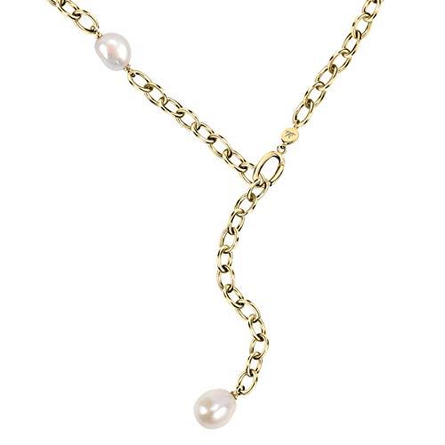 Morellato Collana da donna, Collezione Oriente, in acciaio, PVD oro giallo, perla naturale - SARI01