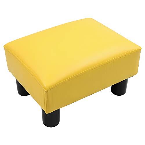 KKTONER Escabel para Sofá Cama Banco para Zapato Pasillo Asiento Sala de Estar del hogar reposapies Sofa(Amarillo)