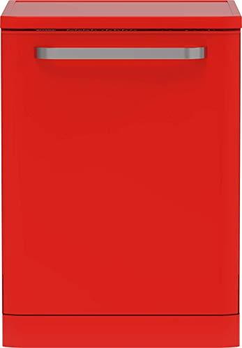 Sharp QW-I23F47ER-DE Freistehender Retro-Geschirrspüler / 60 cm / E / 13 Maßgedecke / 9 Programme mit 30 min. Kurzprogramm / Sharp-Rot