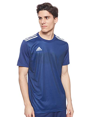 Adidas Campeon 19, Maglietta a Maniche Corte Uomo, Blu (Dark Blue/White), M