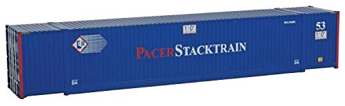 Walthers SceneMaster HO Scale Model of Pacer Stacktrain (Blue, White, red) 53