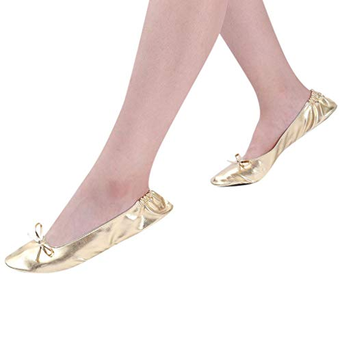 Read About Xinantime Womens Foldable Portable Travel Ballet Flat Roll Slipper Shoes Dance Party Shoe...