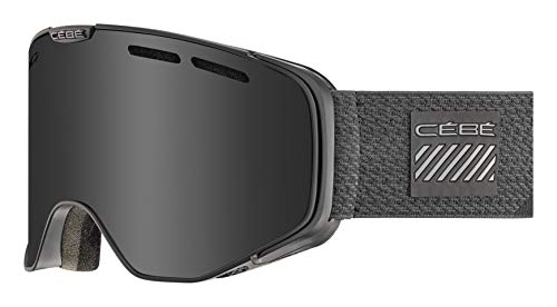 Cébé Versus skibrillen, uniseks, volwassenen, full black, large