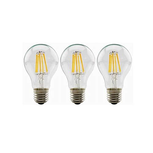 DC de 12 voltios 6 vatios blanco cálido 24v LED Edison filamento A19 A60 Bombilla E26 E27 Medio Base de la lámpara AC / DC 12V-36V for el Banco solar portátil batería del sistema fuera de la r