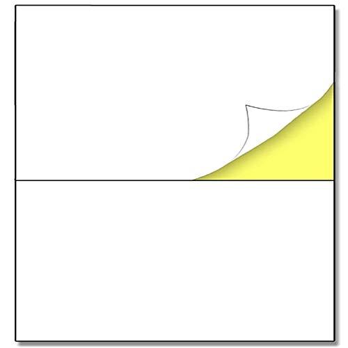 YCYY A4 Matte White Sticker Labels, Laser/Inkjet Printing - 2 Per Sheet 148.5 X 210Mm, 100 Sheets