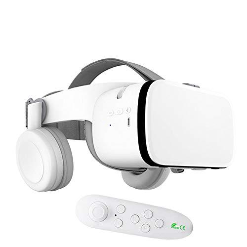 """YYR 3D-VR-Brille, High Definition Optical-Objektiv, Voll einstellbare Bügel, Focal und Objektabstand, w/Bluetooth Gamepad, Perfekt für iPhone, Samsung und alle Telefone 4.7\"""" bis 6.2\"""",Weiß"""