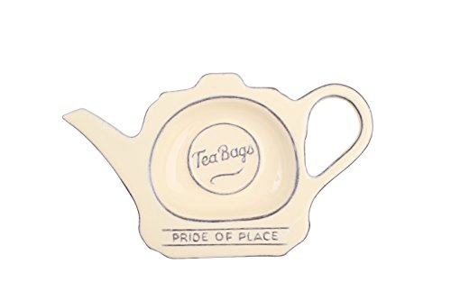 T&G Woodware Pride of Place Tea Bag Tidy in Old Cream - 18029 by T&G Woodware