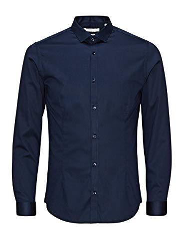 JACK & JONES PREMIUM Super Slim Fit Camicia formale Jjprparma Shirt L/s Noos Uomo, Blu (Navy Blazer), M