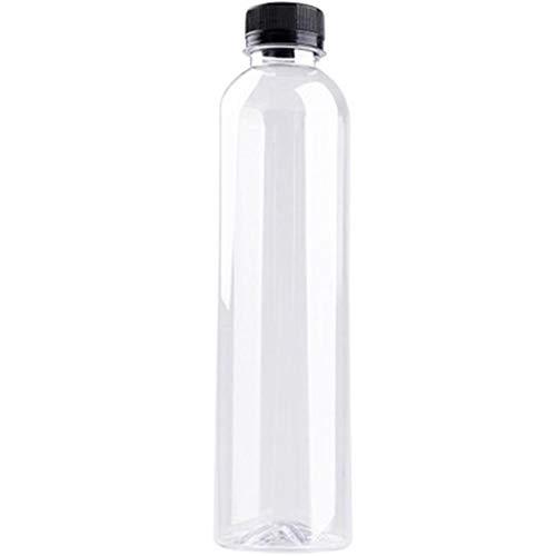 Tnaleve, 12 bottiglie usa e getta da 350 ml, in plastica ispessita trasparente, senza BPA, per picnic, alpinismo, 5 x 21,5 cm, in PET