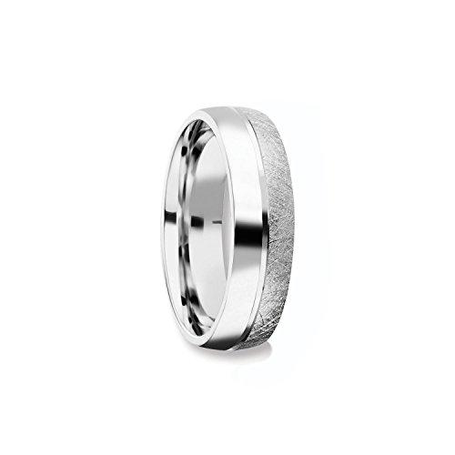 Herrenring Silber 925 Ehering Trauring Hochzeitsring Herren flach Verlobung Verlobungsring Herren Herr Freundschaftsring modern schlicht FF384 SS92562