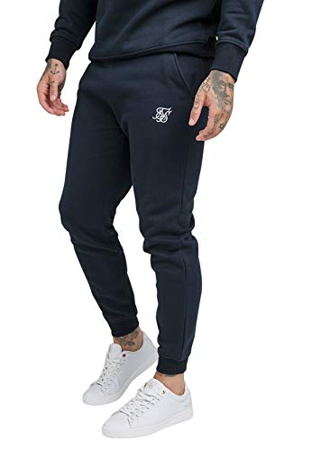 Sik Silk Core Muscle Fit SS-18900 - Pantalones de chándal para hombre, color azul marino azul XL