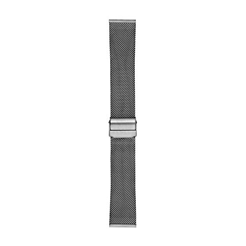 Skagen - Correa de Malla de Acero Color carbón estándar Intercambiable de 22 mm para Hombres, SKB6061