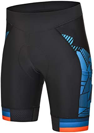 DEALYORK Men s Cycling Shorts Padded with Pockets Bicycle Riding Bike Shorts Quick Dry Men Half product image