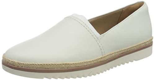 Clarks Damen Serena Paige Sneaker, White Leather, 37 EU
