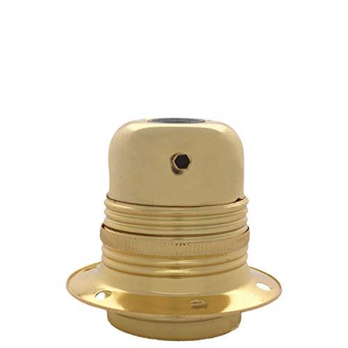 Art deco Emporium lhe27-r00-brs E27in metallo e ceramica Earthed portalampada in ottone lucido finitura
