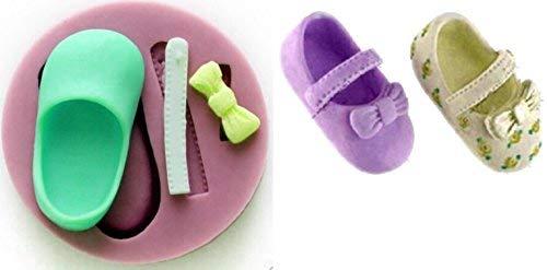 Sa105 - siliconenvorm voor voedselgebruik van een schoen - suikerpasta - fondants - cakes - pannenkoeken - muffins - decoraties