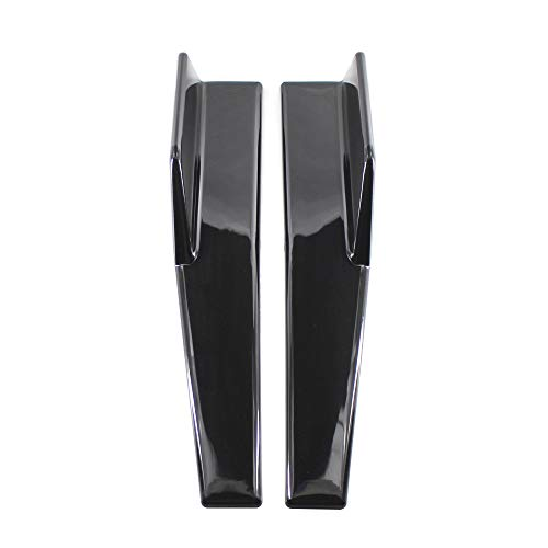 KKmoon 2 stücke Auto Spoiler Heckstoßstange Schwarz Universal Spoiler Lippenseite Rock Extension Splitter seitliche Kotflügelflossen