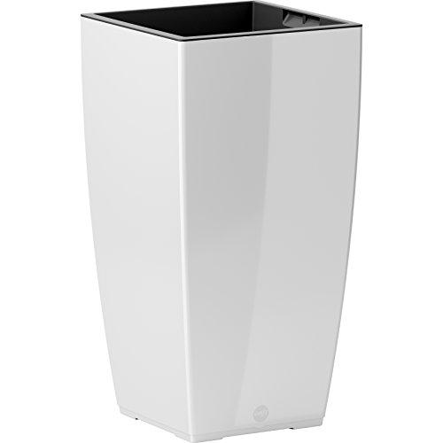 Emsa Sistema de autorriego, diseño de Flores Maceta, 30x 58cm, Color Blanco, casa Brilliant, 517584