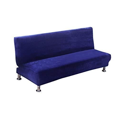 C/N Funda de sofá Cama sin Brazos Terciopelo Funda de sofá 1 2 3 Plaza sin Brazos elástica Fundas de Sofa Clic clac sin Reposabrazos Armada