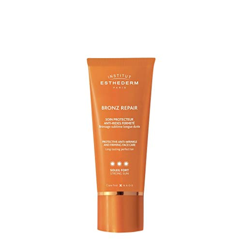 Institut Esthederm - Bronz Repair - Soin Protecteur Anti-Rides Fermeté - Optimisation du Bronzage Naturel - Soleil Fort - Tube 50ml