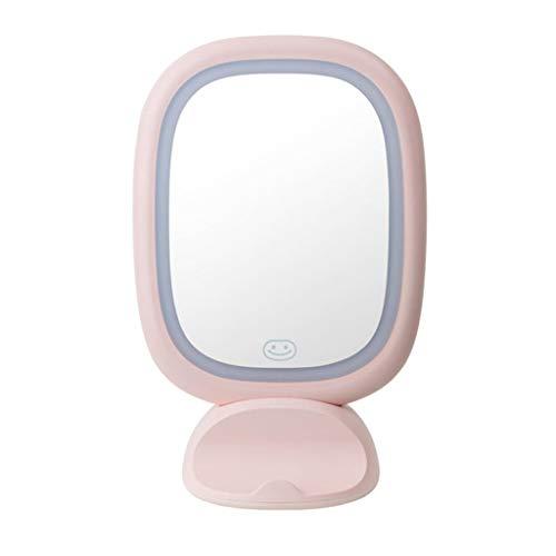 LHY LED make-up spiegel voor het bureau verlichte spiegel voor bevestiging aan de muur