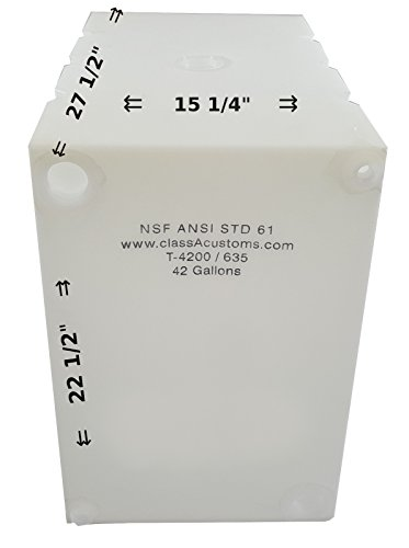 Class A Customs 42 Gallon Water Holding Tank NSF Approved T-4200/635
