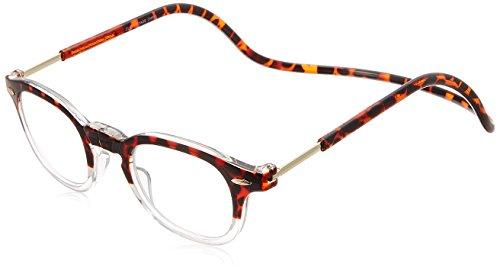 [クリックリーダー] 老眼鏡 Clic Vintage メンズ トートイス/クリアー 日本 +1.50-(FREE サイズ)