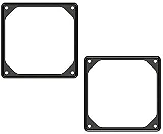 Anti-Vibration Silicon Fan Gasket 140mm - 2 Packs Noise Reducing Silencer Gasket Pad for PC Computer Case Fan (140mm-Black)