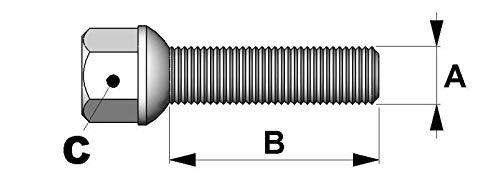 1x Vis 14x150 L2 60mm Cle 17 Portee Spherique