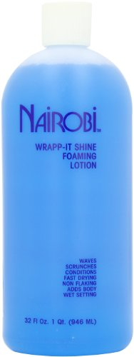 Nairobi Wrapp It Shine Foaming Lotion for Unisex, 32 Ounce