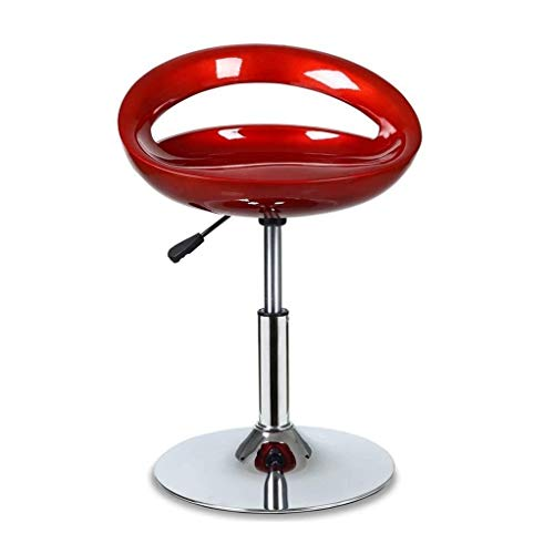 LIN-rlp Barstools Set Of 2 Kitchen Barstool Counter Height Bar Stools Swivel Bar Chairs Heights Adjustable (Color : Red)