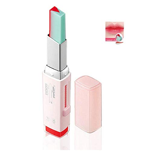 Odoukey 1PC Zwei-Ton-Lippenstift feuchtigkeitsspendend Gradient Lippenstift Long Lasting Lip Blam Wasserdicht Tint Lippenstab Cosmetic Geschenk für Frauen Mädchen (3 Pomelo Mint)
