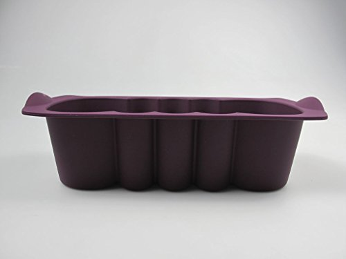 TUPPERWARE Backen Silikonform Kuchenwelle 1,5L lila Kuchen Backform Easyplus