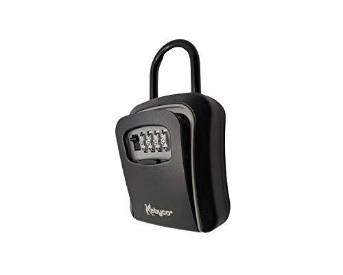 Caja de llaves segura con asa (negro)