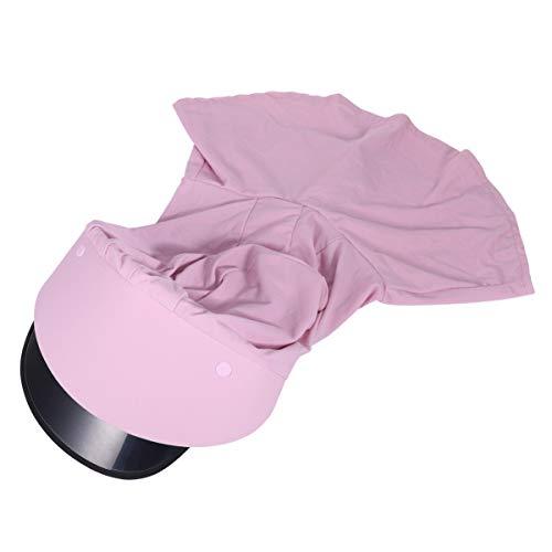 ARTIBETTER Chapéu de Sol Com Aba Protetora Facial Ajustável Polaina para O Rosto Lenço Bandana Proteção Solar Proteção Solar Boca Proteção Nasal para Crianças Pequenas (Rosa Acima de 10