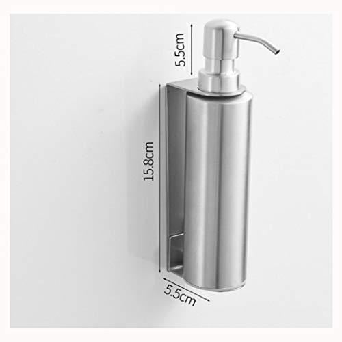 YOYO Dispensador de jabón de acero inoxidable, dispensador de jabón de pared, dispensador de loción de cocina, fregadero, bomba de jabón de mano, botella de loción plateada de repuesto