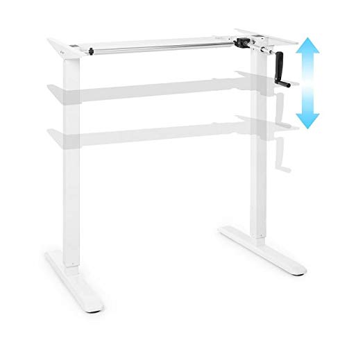 oneConcept Multidesk Base de Escritorio de Altura Regulable, Capacidad Carga hasta 70 Kg, Ancho Regulable 100-160 cm, Altura Regulable 73-123 cm, Blanco