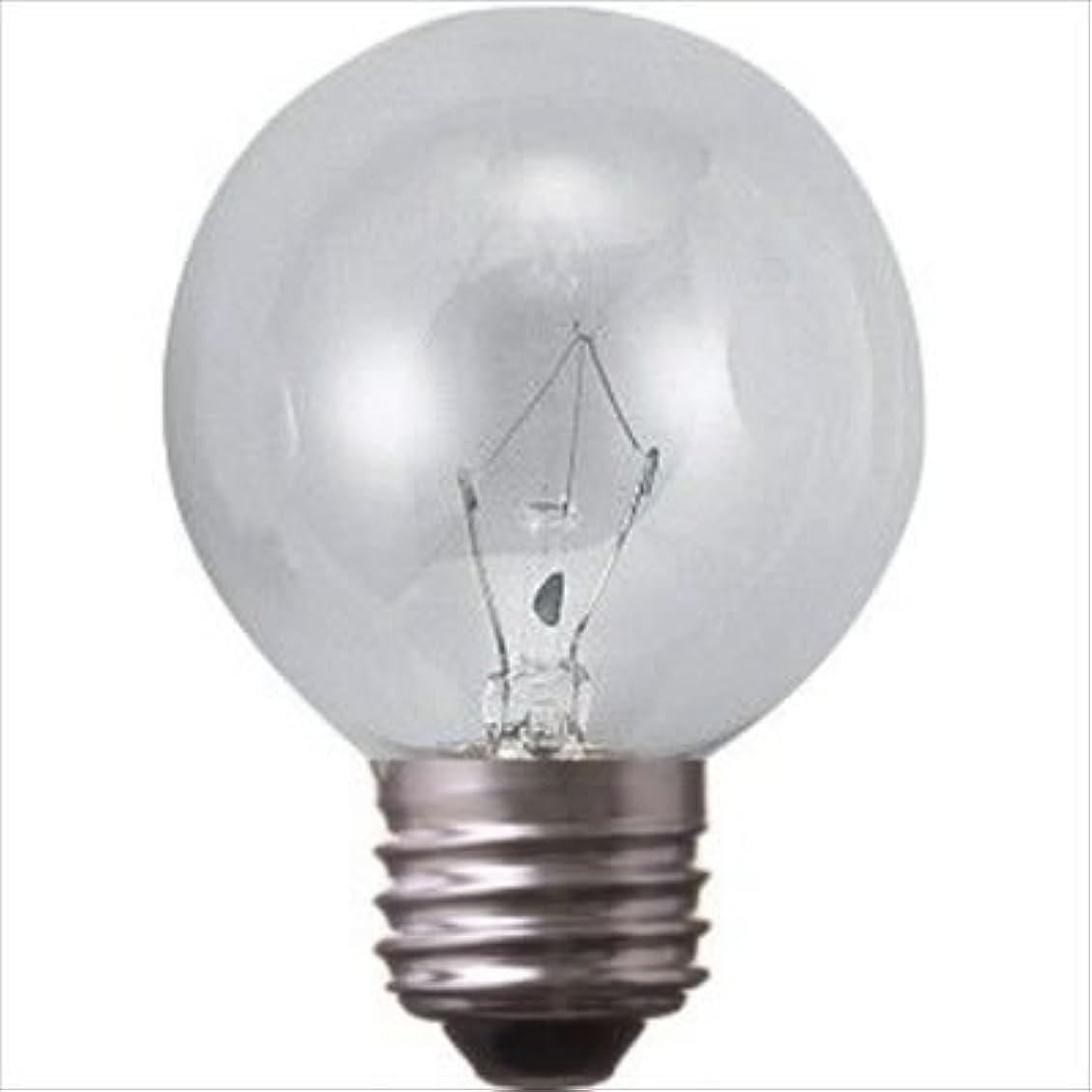 抽出出しますガロンアサヒ ボール球 クリヤー E26口金 直径50mm(G50) 5W G50 E26 110V-5W(C)