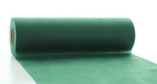 Vlies-Tischläufer Tischband Weihnachten Herbst DUNKELGRÜN 30cmx20m   abwaschbar   Tischdeckenrolle stoffähnlich   Feier   Geburtstag   Party